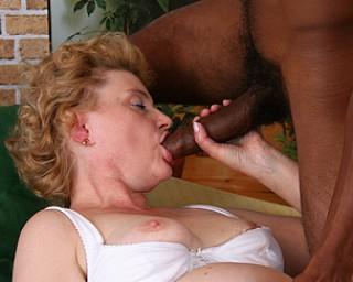 Mature slut loves a huge black cock