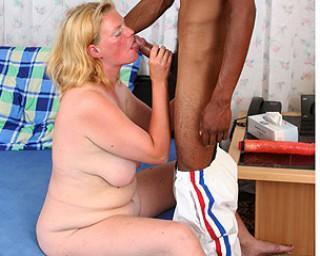 Kinky mama fucking a black dude